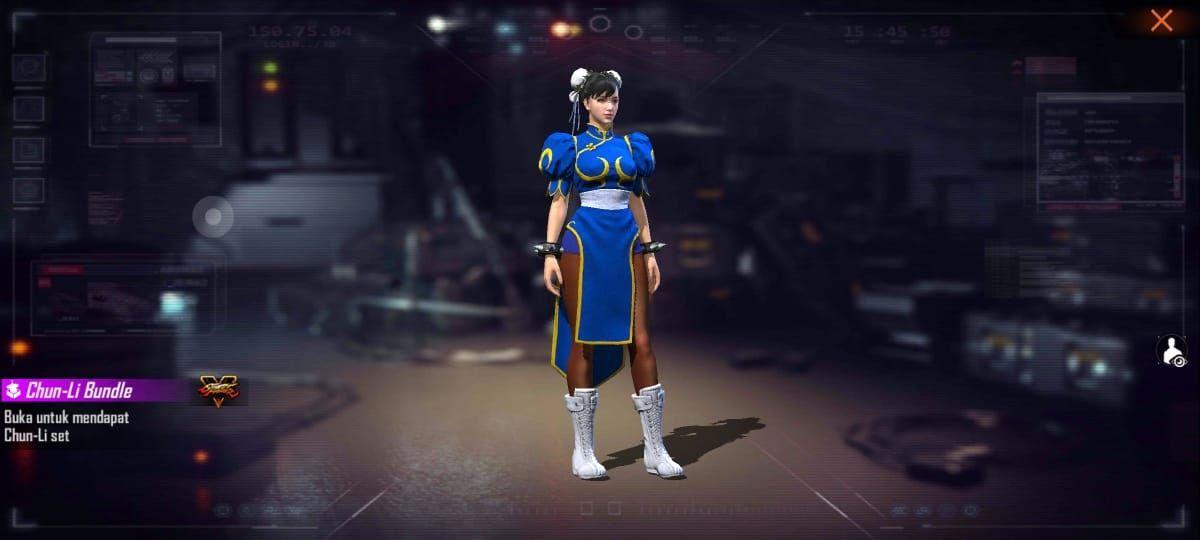 Bundle Chun-Li Eksklusif Free Fire X Street Fighter Telah Hadir