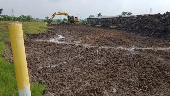 Lahan terkena proyek tol Yogya-Solo di Desa kuncen Kecamatan Ceper