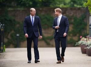 Disebut Tak Akur, William dan Harry Bersatu di Peresmian Patung Putri Diana