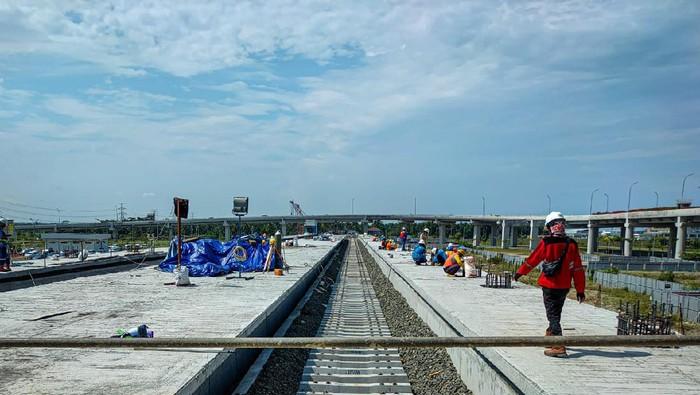 Progres proyek jalur kereta Bandara Kulon Progo/Yogyakarta International Airport