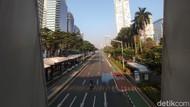 Hari Pertama PPKM Darurat: Jl Sudirman Sepi dari Olahraga dan Pesepeda