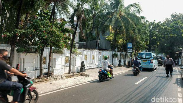 Suasana kediaman rumah duka, Rachmawati Soekarnoputri di Jaksel.