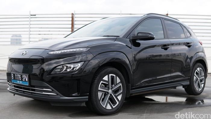 Tampilan luar dari Hyundai Kona Electric Facelift 2021