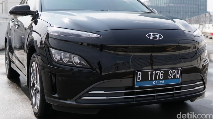 Detail eksterior Hyundai Kona Electric Facelift 2021