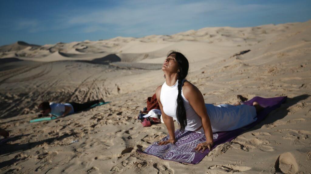 Kala Gurun di Meksiko Jadi Lokasi Yoga Saat Pandemi