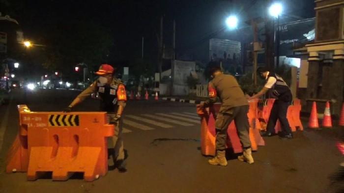 PPKM Darurat, Penutupan Jalan Protokol di Purwakarta
