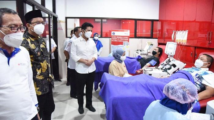 wagub emil di PMI Sidoarjo