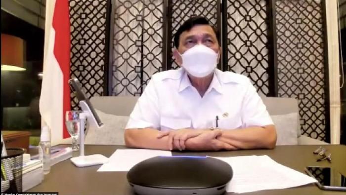 Koordinator PPKM Darurat Jawa-Bali, Luhut Binsar Pandjaitan (YouTube Menko Marves)