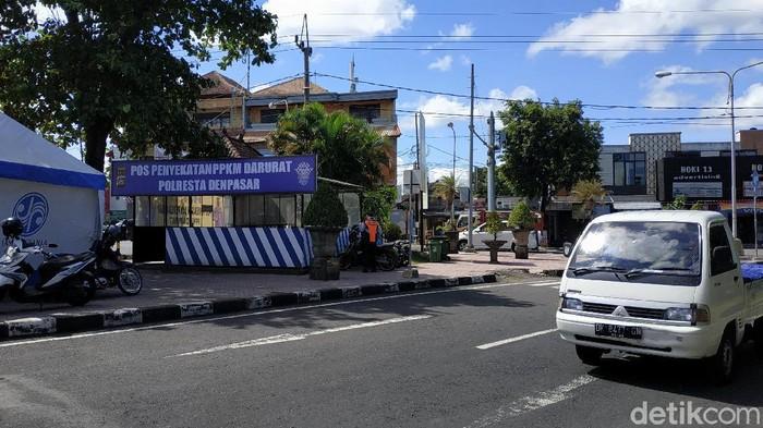 Lokasi penyekatan saat PPKM darurat di Bali (Sui/detikcom).