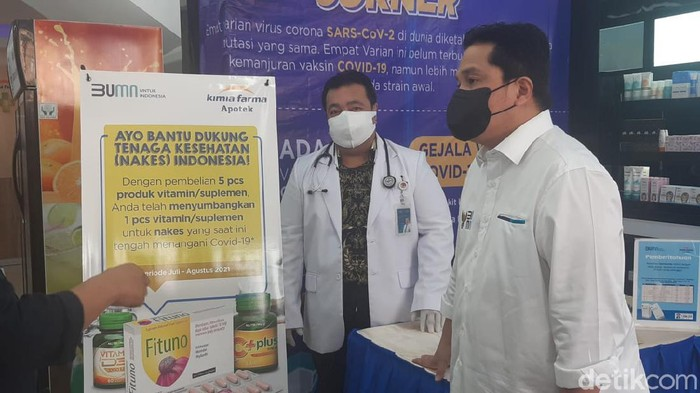 Menteri BUMN Erick Thohir cek obat Ivermectin ke Kimia Farma