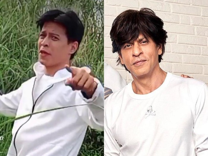 Viral pria yang mirip dengan aktor asal India, Shah Rukh Khan.