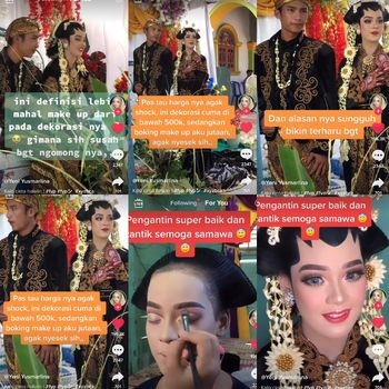 Kisah pengantin yang viral di TikTok.