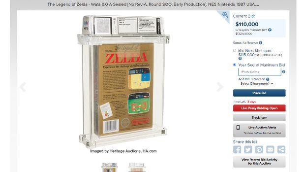 Cartridge Legend of Zelda langka dilelang