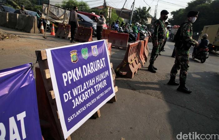Jumlah titik penyekatan di wilayah Jakarta dan sekitarnya selama PPKM Darurat bertambah. Saat ini ada 72 titik.
