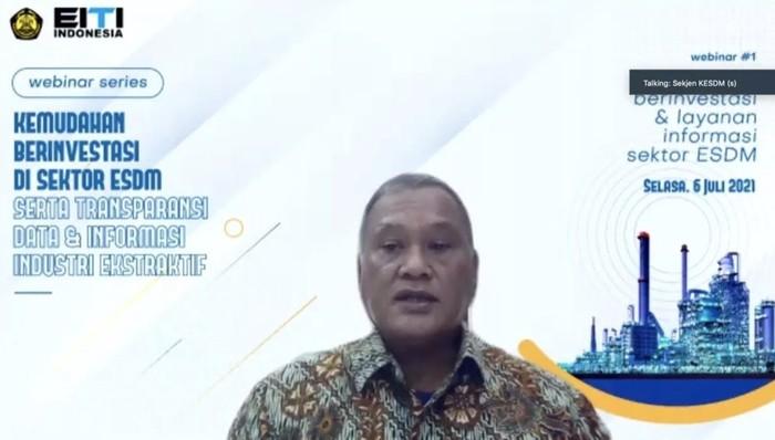 Sekretaris Jenderal Kementerian ESDM Ego Syahrial
