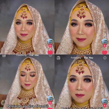 Viral pengantin wanita yang salah pilih MUA saat hari pernikahan.