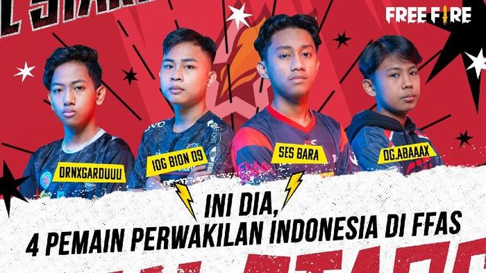 4 Pro Player ini Wakili Indonesia di Free Fire All Stars 2021: Asia