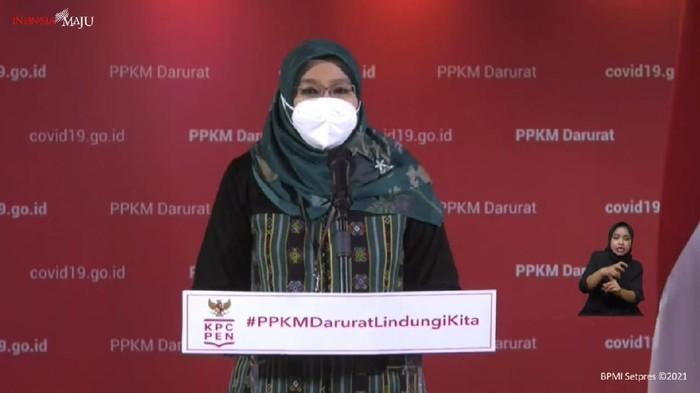 Juru bicara Kementerian Kesehatan (Kemenkes) untuk vaksinasi COVID-19, dr Siti Nadia Tarmizi (YouTube Sekretariat Presiden)