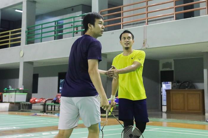 Hendra Setiawan/Mohammad Ahsan tinggak menjaga kesehatan menjelang berangkat ke Olimpiade Tokyo.