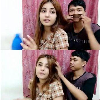 pasangan Youtuber asal Tulungagung Rico dan bule India Shivani.