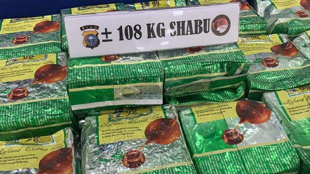 Polisi ungkap penyelundupan 108 kg sabu asal Malaysia di Riau