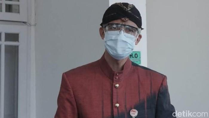 Gubernur Jateng Ganjar Pranowo di RSI Banjarnegara, Kamis (8/7/2021).