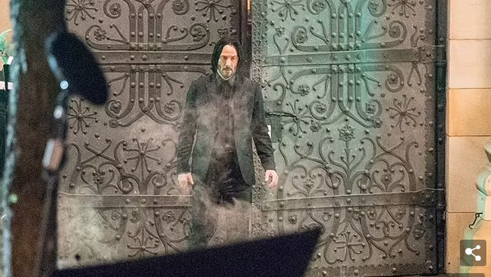 Keanu Reeves syuting John Wick 4 di Berlin