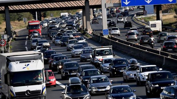 Kemacetan di Prancis