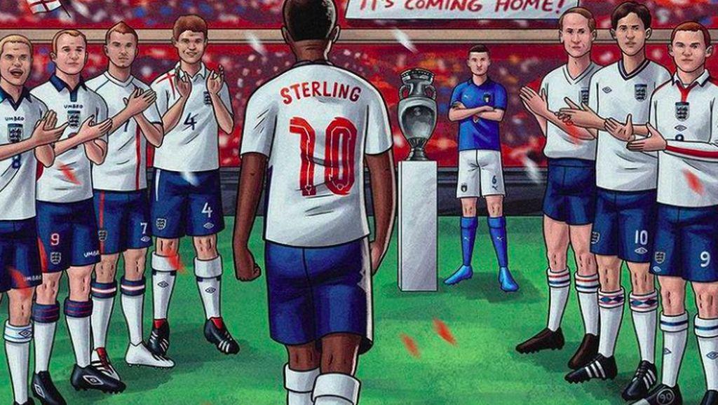 Inggris Tembus Final Setelah 55 Tahun, Netizen Girang dan Berang