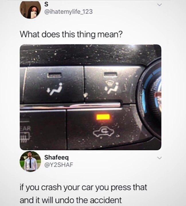 Meme tombol AC dalam mobil