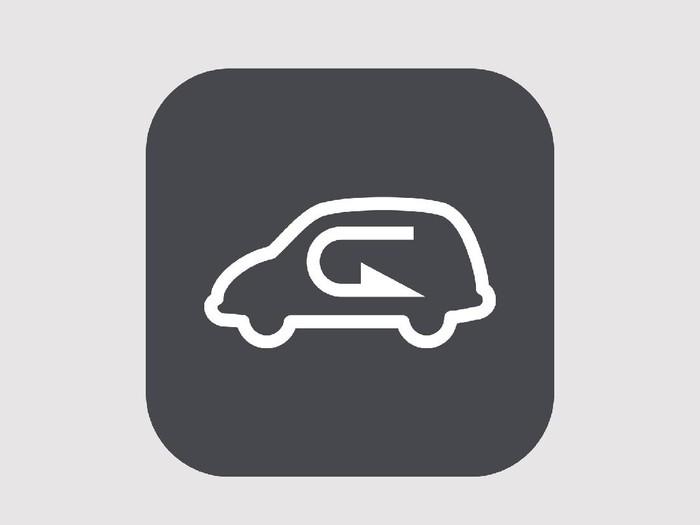 Logo recirculation mode pada AC mobil