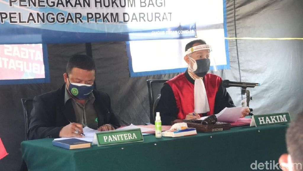 Duit Seratus Juta Masuk Kas Negara dari Pelanggar Aturan PPKM di Garut