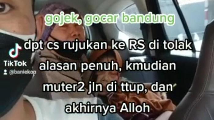 Sopir taksi online membagikan cerita penumpangnya meninggal karena ditolak sejumlah rumah sakit di Bandung