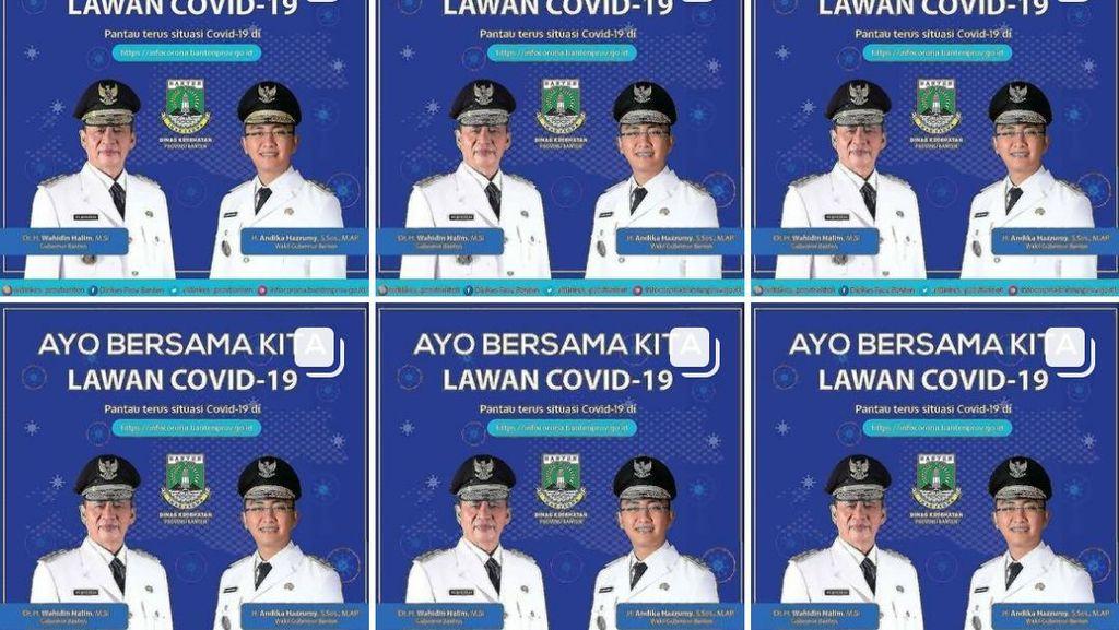 Wajah Gubernur di Akun COVID-19 Banten Dikritik dr Tirta hingga Warganet