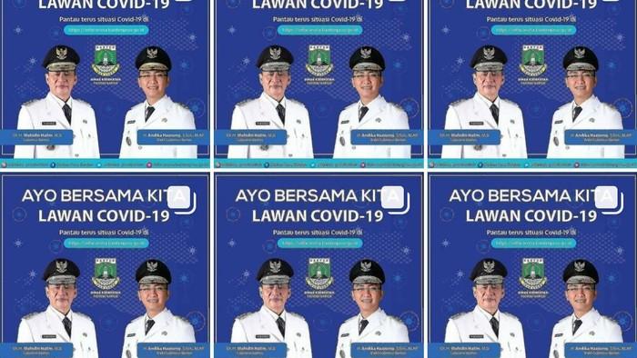 Akun COVID-19 Banten dikritik netizen karena selalu posting foto gubernur dan wagub