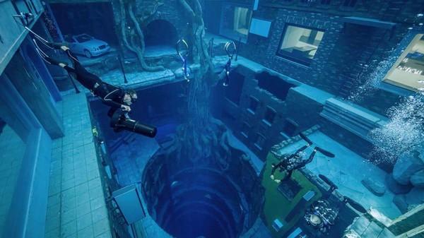 Uniknya, kolam selam ini memiliki kota bawah laut Penyelam bisa menjelajahi apartemen terbengkalai yang berada di bawah air (Deep Dive Dubai)
