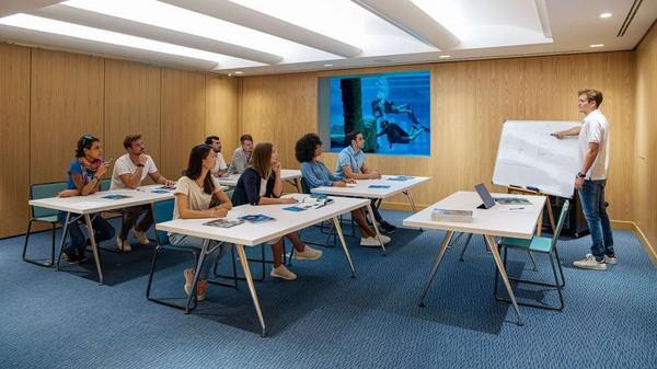 Deep Dive Dubai juga menawarkan kursus untuk penyelam pemula dan penyelam berserifikat. (Deep Dive Dubai)