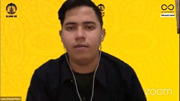 Ketua BEM UI Leon (screenshot YouTube Iluni UI)
