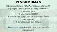 RSLT Surabaya Buka Lowongan 200 Dokter dan Perawat