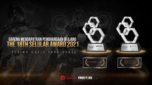 Free Fire Dapat Award Game Mobile Terbaik 2021
