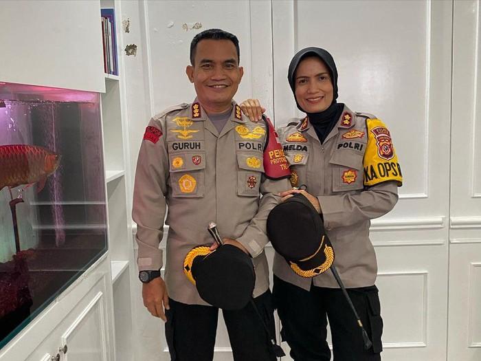 Kombes Pol Guruh Arif Darmawan dan AKBP Melda Yanny