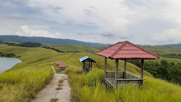 Masyarakat Sentani di Papua menyebutnya Danau Emfote. Emfote berarti perairan di tempat tinggi. Jalan menuju ke sini belum beraspal, hanya berupa jalan tanah yang diperkeras. Kalau habis hujan biasanya becek terdapat genangan. (Hari Suroto/Istimewa)