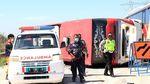Foto-foto Kecelakaan Bus di Tol Pemalang
