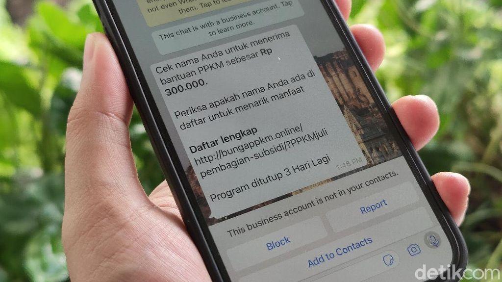 Waspada! Link Berbahaya Menyebar Masif di WhatsApp