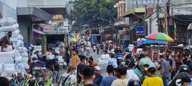 Kondisi penertiban di Pasar Tanah Abang, 9 Juli 2021. (Dok Istimewa)