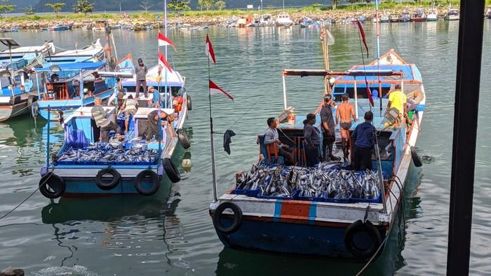 Produksi perikanan tangkap di pelabuhan perikanan menunjukkan tren positif di tengah masa Pemberlakuan Pembatasan Kegiatan Masyarakat (PPKM) Darurat.