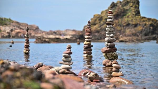 Seperti ini penampakan kejuraan dunia menyusun batu yang digelar di Eropa.