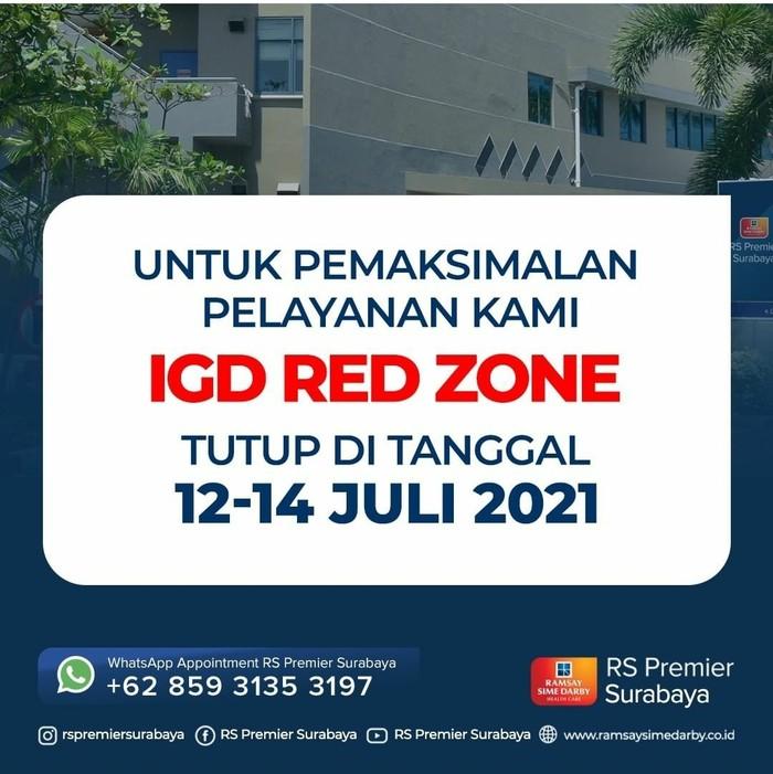 14 IGD RS di Surabaya sempat lockdown karena pasien COVID-19 overload. Kini, beberapa RS memberlakukan sistem buka tutup untuk pasien.