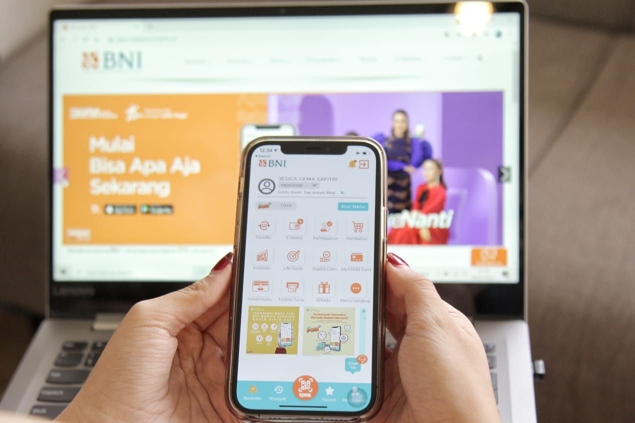 Aplikasi mobile banking BNI terbaru.