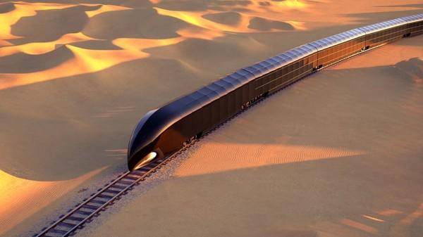 Kereta api ini bernama G Train dan didesain oleh Thierry Gaugain. (Thierry Gaugain/CNN)